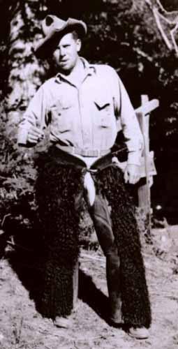 Floyd Risvold at Big Sur, California in 1932
