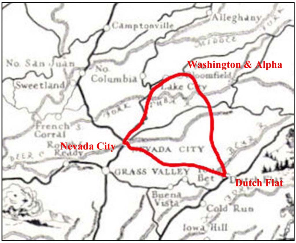 The area served by Phillip's Express is shown map