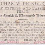 Advertisement from the Yreka Weekly Union of May 5, 1860.