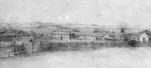 Portsmouth Square, San Francisco in April, 1849