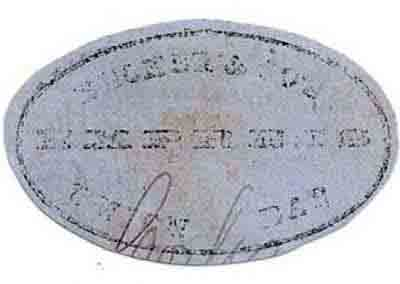 Becker & Co's Express Union Bar cut oval, only known example from this location.