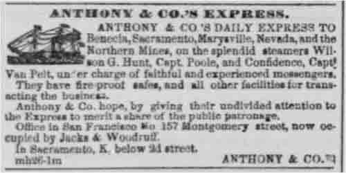 San Francisco Daily Alta ad run from Apr 13 to Apr 21, 1853