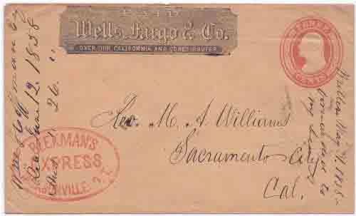 Beekman's Express Jacksonville O.T. with May 31 1858 docketing to Yreka