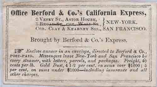Office Berford & Co.'s California Express label