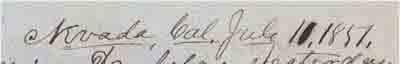 Datelined Nevada (City) July 11, 1851