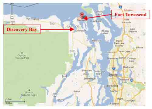 Google Map Discovery Bay & Port Townsend