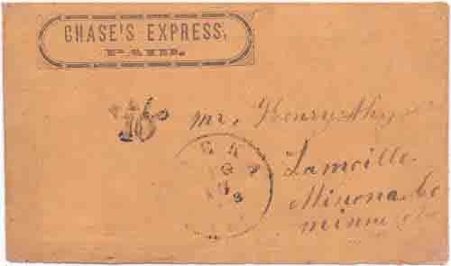 Chase's Express/Paid in their franked envelope to Yreka