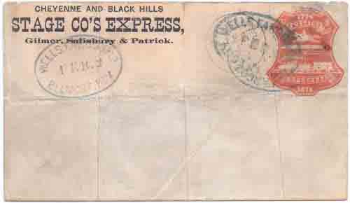 Cheyenne and Black Hills Stage Co's Express from Cheyenne to an unknown location in the Black Hills of Dakota Territory.