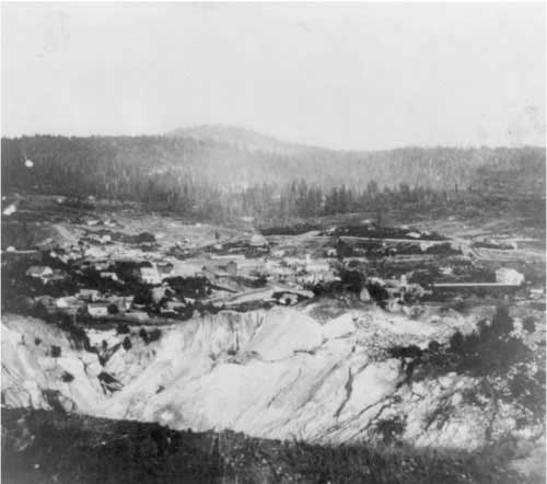 Nevada City from the west (1866)