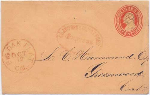 Crawford's Middle Fork Express with their red handstamp