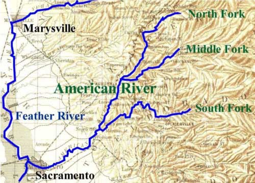 Map of American River