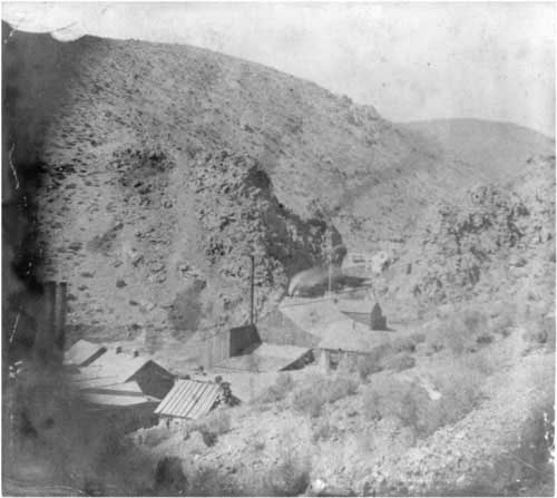 Devils Gate photograph from 1866, published by Lawrence and Houseworth.