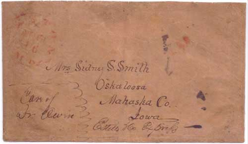 Estills & Co Express from along the overland trail to Weston, Mo. Aug 16 (1850)