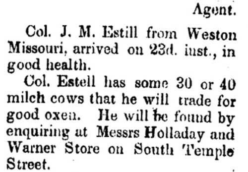 Salt Lake City Deseret News Jul 27, 1850