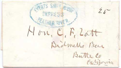 Everts Snell & Cos. Express Feather River from Marysville to Bidwells Bar