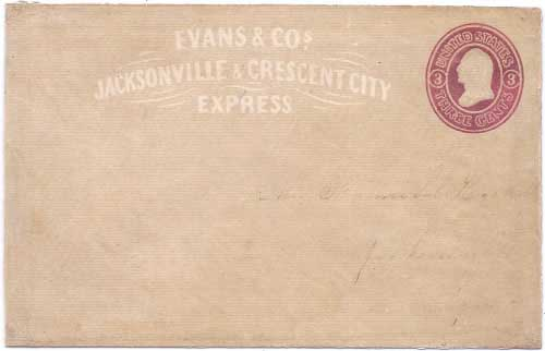 Evans & Co.'s Jacksonville & Crescent City Express from Crescent City, CA to Jacksonville, OR