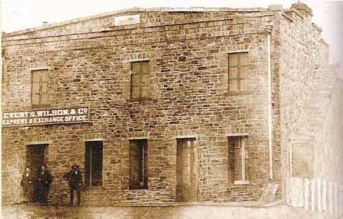 Everts, Wilson & Co's Express office in St. Louis, California (ca1857)