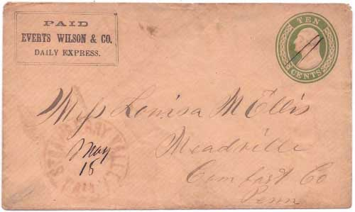 PAID Everts Wilson & Co. Daily Express. to Strawberry Valley