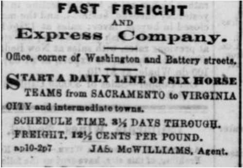 San Francisco Daily Alta California ad from Apr 11, 1864