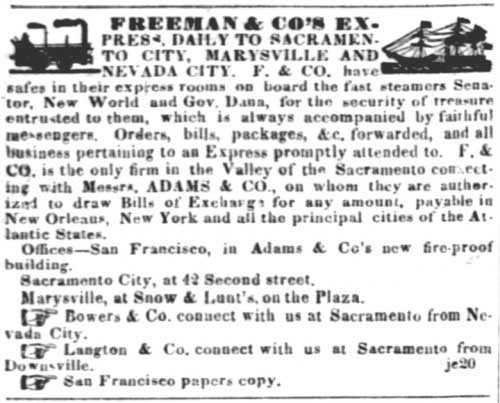 Article from the Jul 3, 1851 issue of the San Francisco Alta California