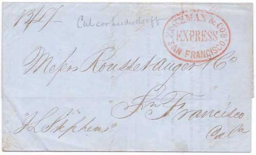Freeman & Co's Express San Francisco from Panama