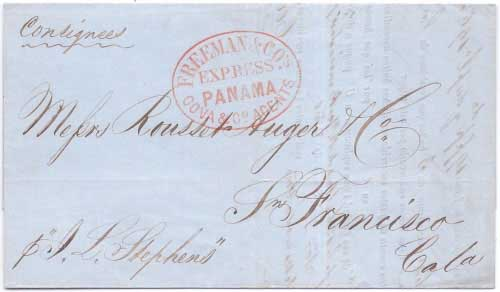 Freeman & Co's Express Panama Cova & Co. Agents from Panama