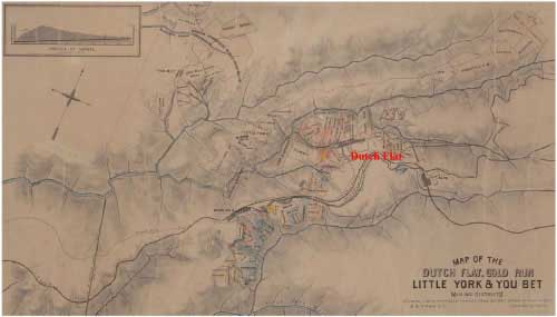 Map of the Dutch Flat, Gold Run - Little York & You Bet Mining District