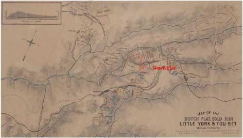 Map of the Dutch Flat, Gold Run - Little York & You Bet Mining District
