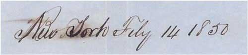 Dateline New York Feb 14, 1850