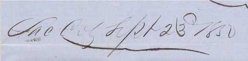 datelined Sac City Sept 23 1850