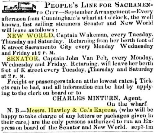 Sep 11, 1850 ad from the Alta California