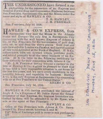 San Francisco Daily Alta California Jul 15, 1850