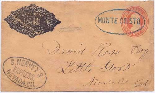 S. Hervey's Express Nevada, Cal to Little York
