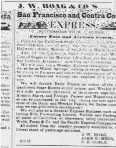 San Francisco Daily Alta California advertisement: Nov 25, 1855