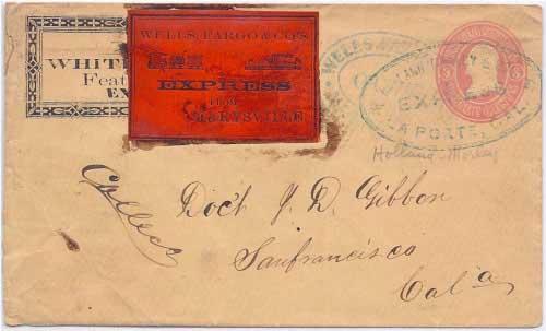 Holland, Morley & Co.'s Express La Porte, Cal. to Marysville
