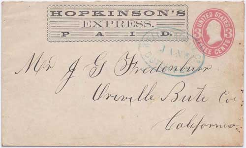 Hopkinson's Express PAID into Dutch Flat