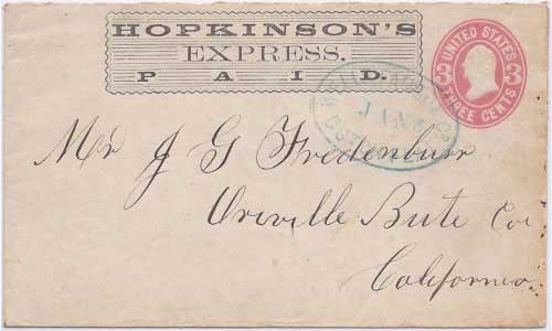 Hopkinson's Express PAID into Dutch Flat