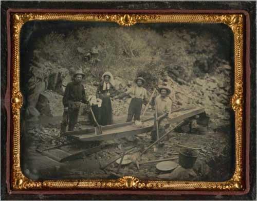 Daguerreotype of Auburn Ravine in 1852