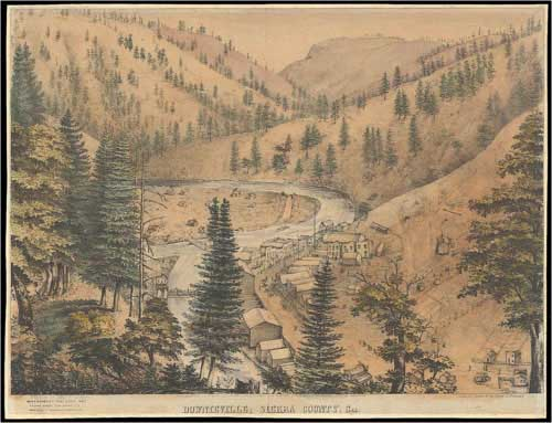Early sketch of Downieville.