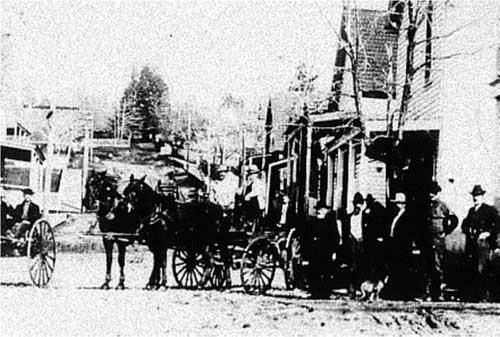 An early view of Camptonville's main street