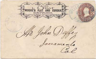 L.H. Wells' Moore's Flat and Eureka Express to Nevada City