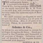 Original Newell & Co.'s Express ad from Oct 27, 1851