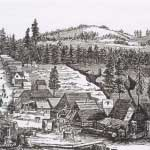 Gibsonville in 1855 from Hutchings' Illustrated California Magazine