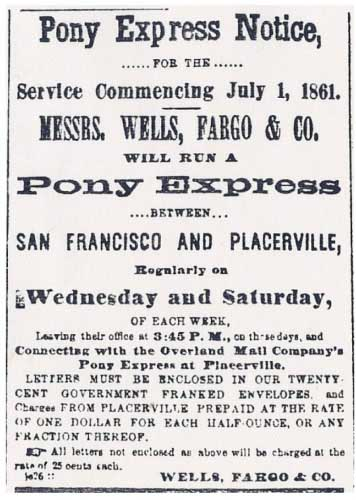 San Francisco Evening Bulletin ad of Jun 26, 1861
