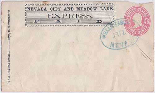 Nevada City and Meadow Lake Express PAID to Nevada