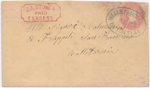 J. A. Stones Express Paid to Dutch Flat