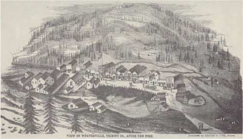 "Image of ""View of Weaverville, Trinity Co., After The Fire"""