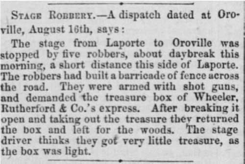 Sacramento Daily Union article from Aug 17, 1865