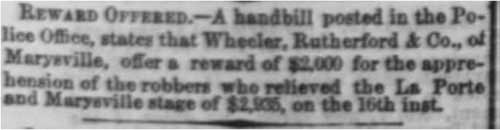 Sacramento Daily Union article from Aug 20, 1865