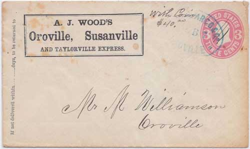 A.J. Wood's Oroville, Susanville and Taylorville Express to Oroville